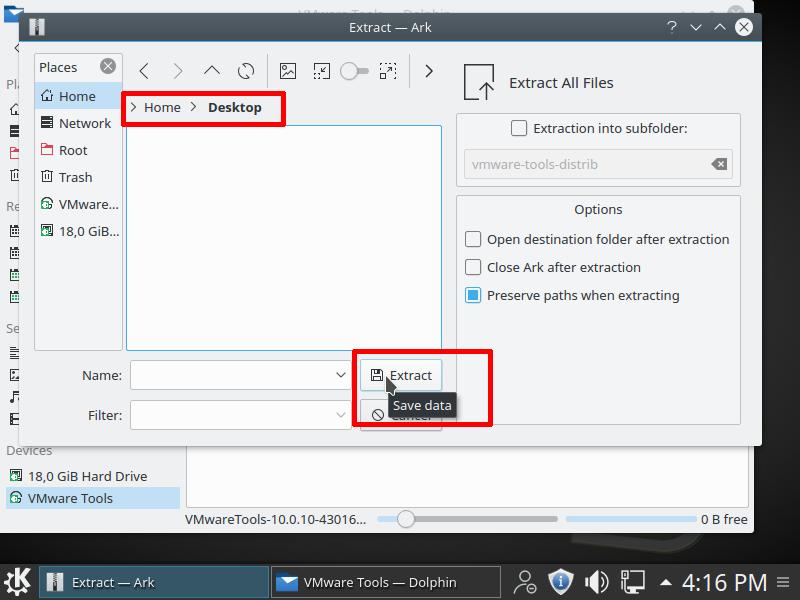 Cài đặt VMware Tools cho máy ảo Linux - 4