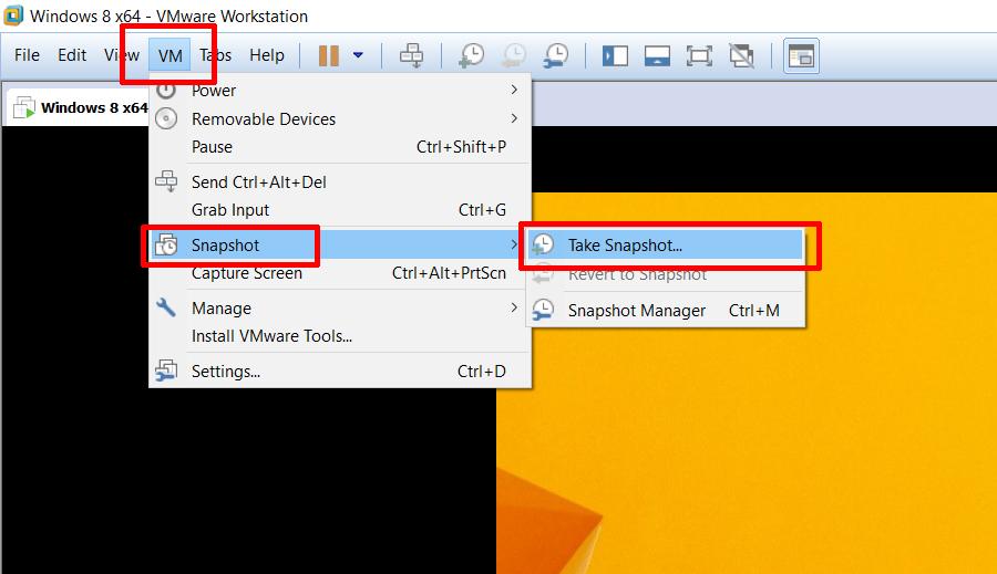 Cách sử dụng Snapshot VMware1
