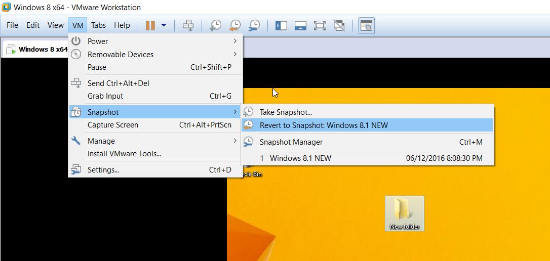 Cách sử dụng Snapshot VMware5