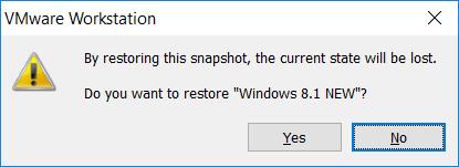 Cách sử dụng Snapshot VMware6